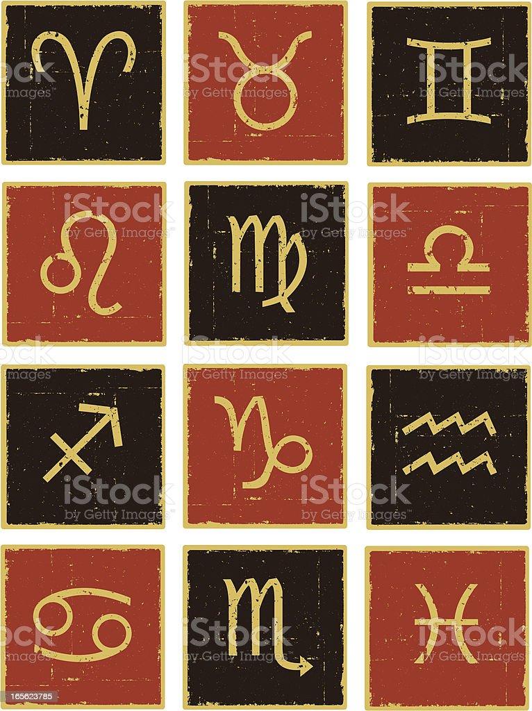 Zodiac Symbols royalty-free stock vector art