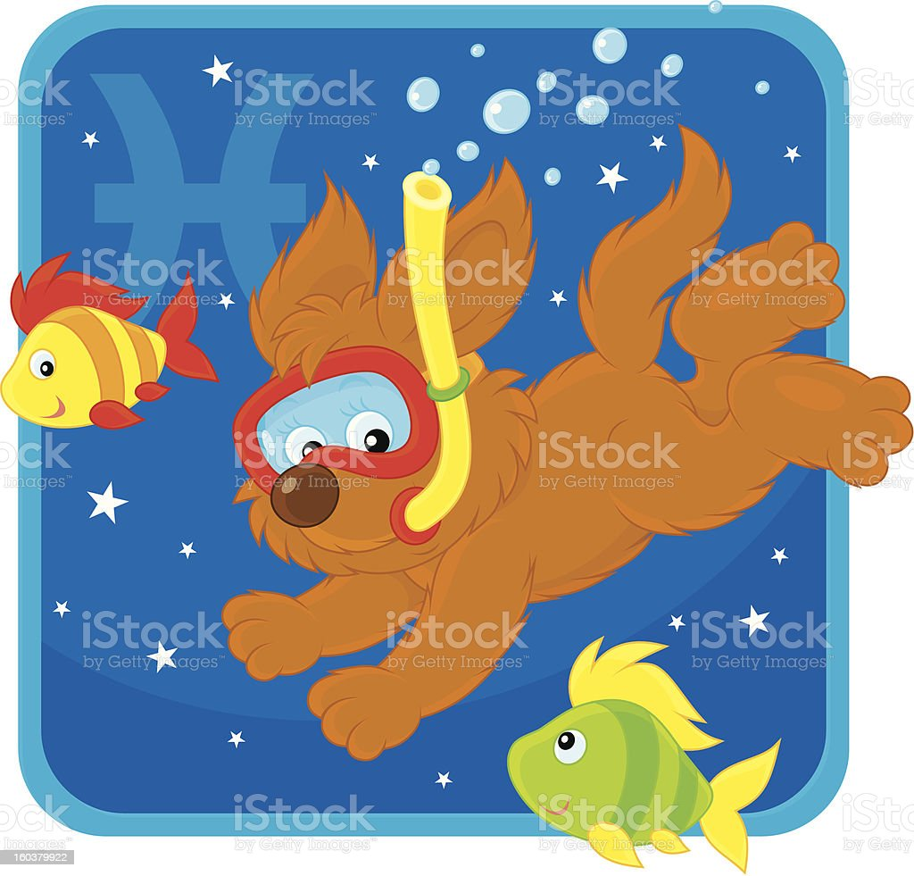 Zodiacal sign of the Fish royalty-free stock vector art