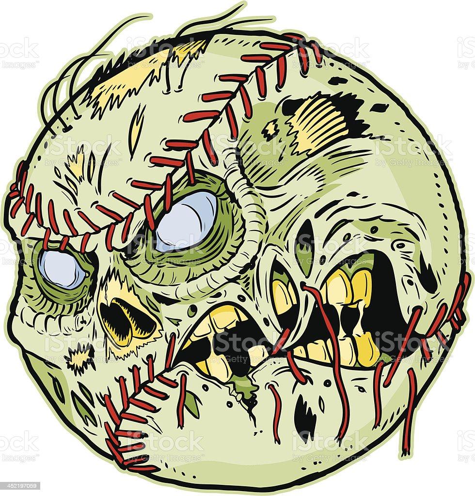 Zombie Baseball Vector Cartoon royalty-free stock vector art