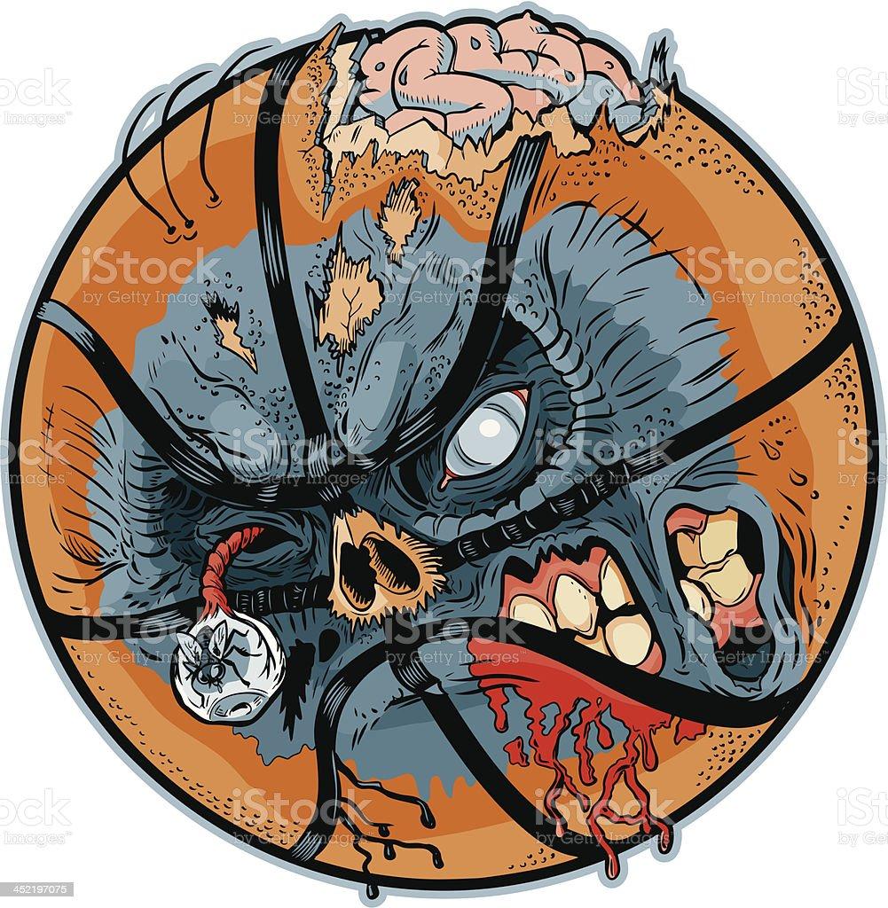 Zombie Basketball Vector Cartoon royalty-free stock vector art