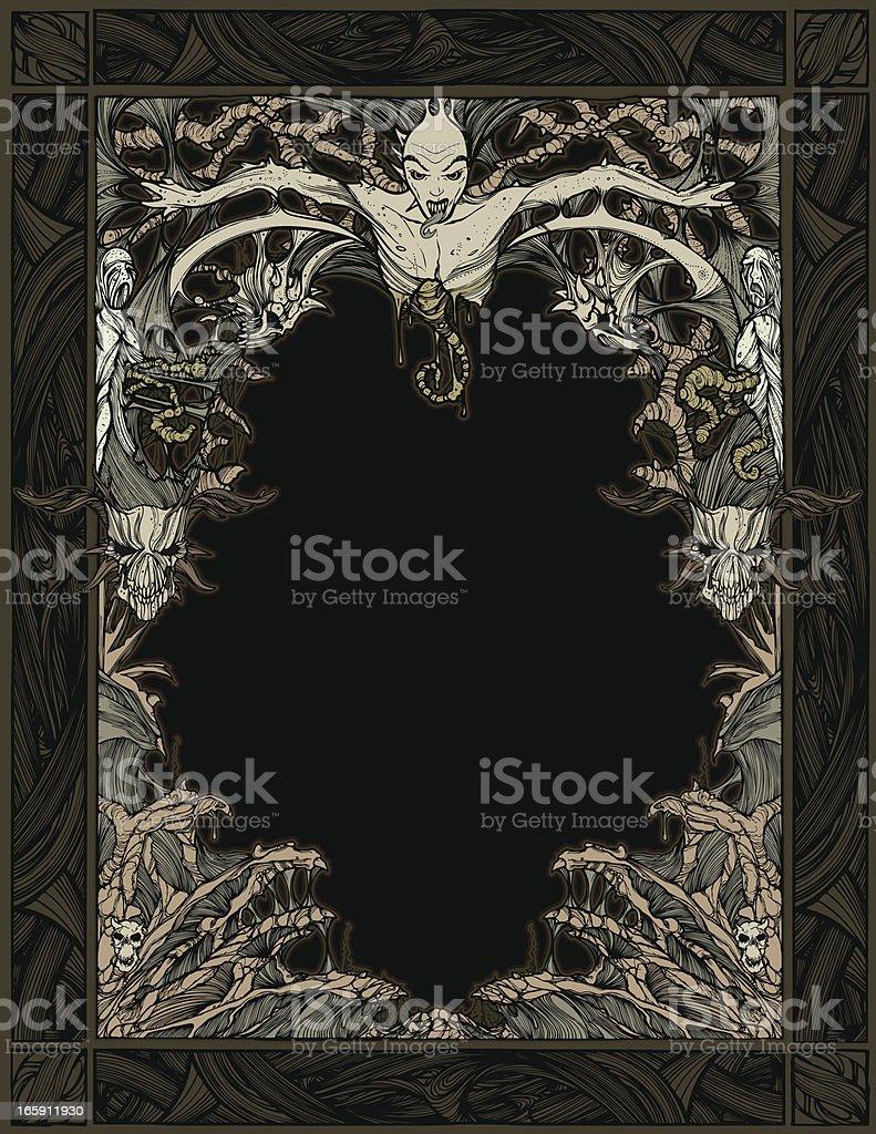 Zombie Devil Frame vector art illustration