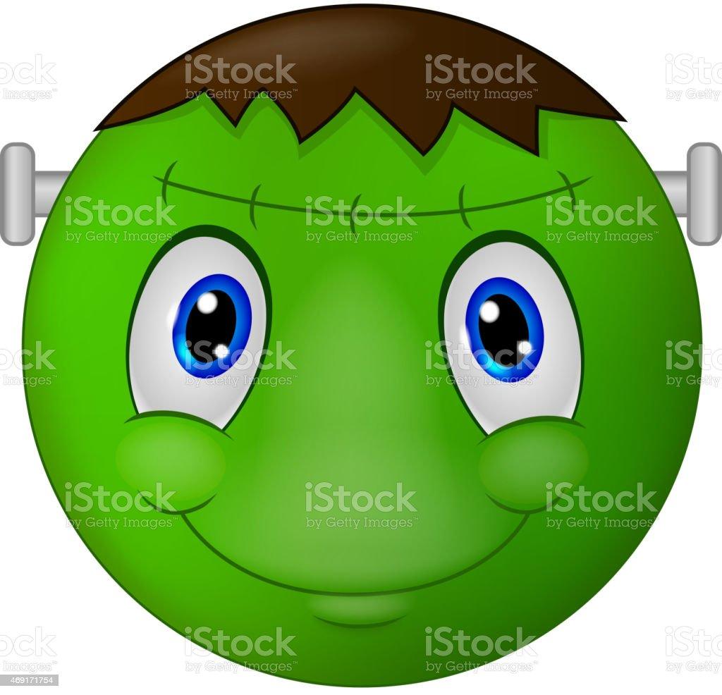 Zombie Emoticon smiley cartoon vector art illustration