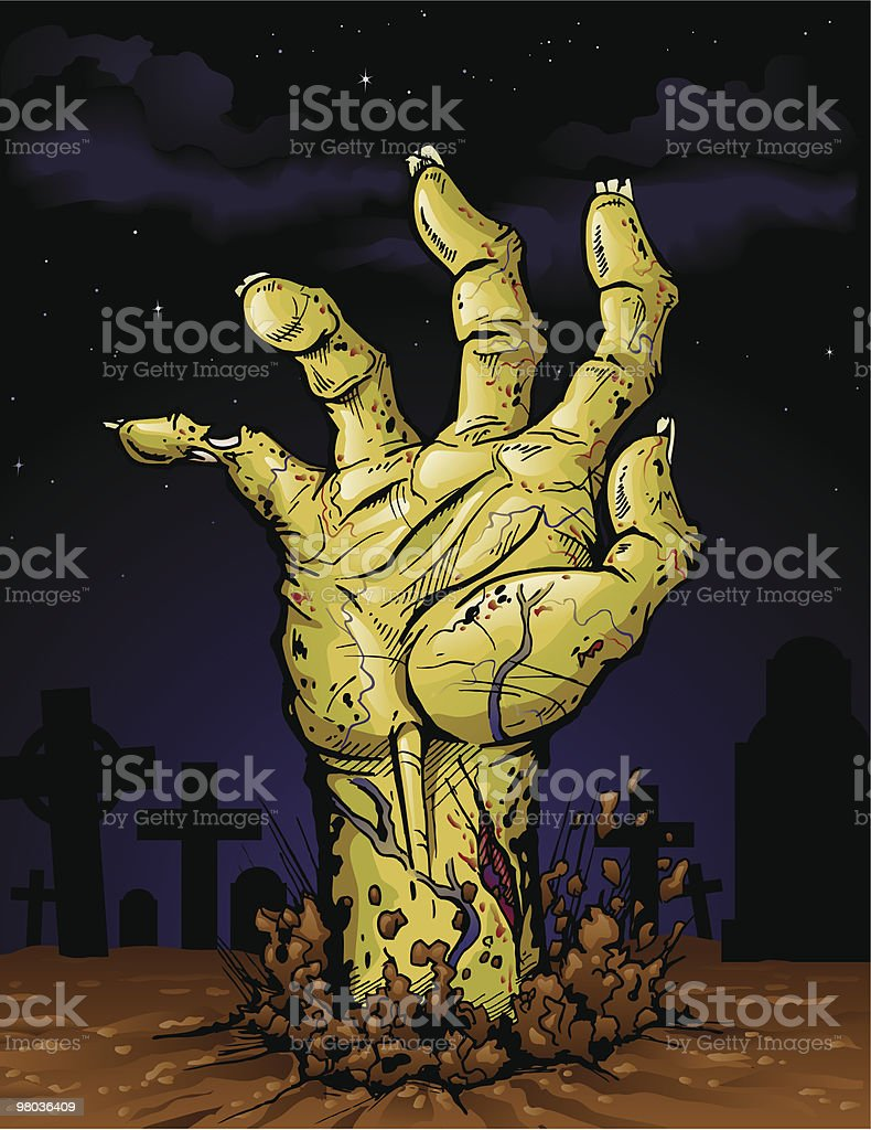 Zombie Hand vector art illustration