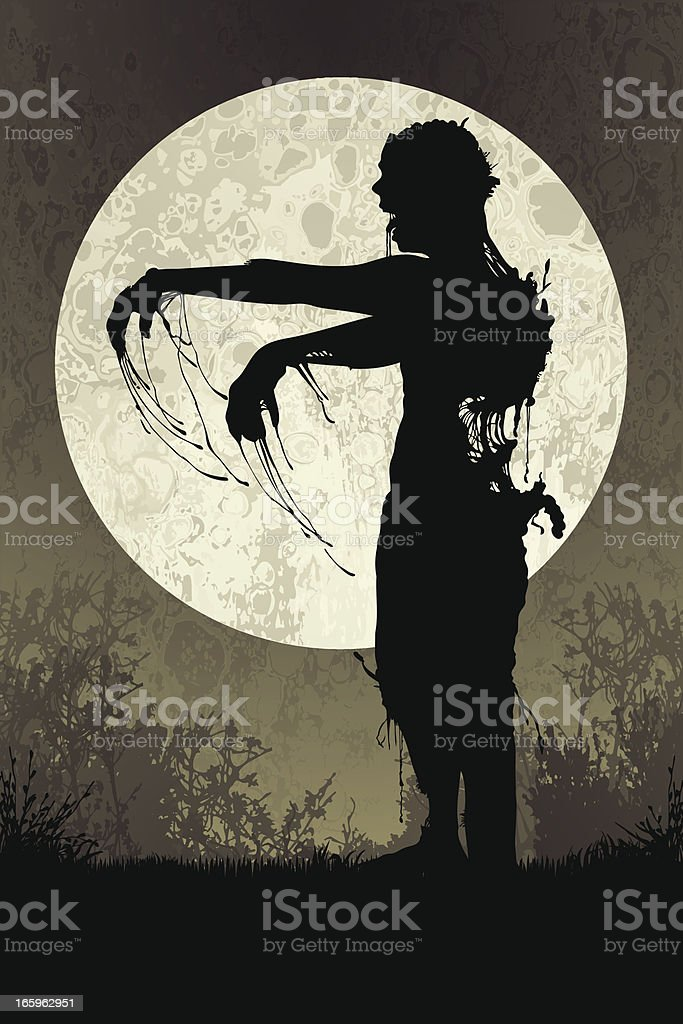 Zombie in the Mist royalty-free stock vector art