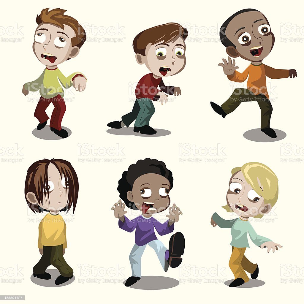 Zombie Kids royalty-free stock vector art