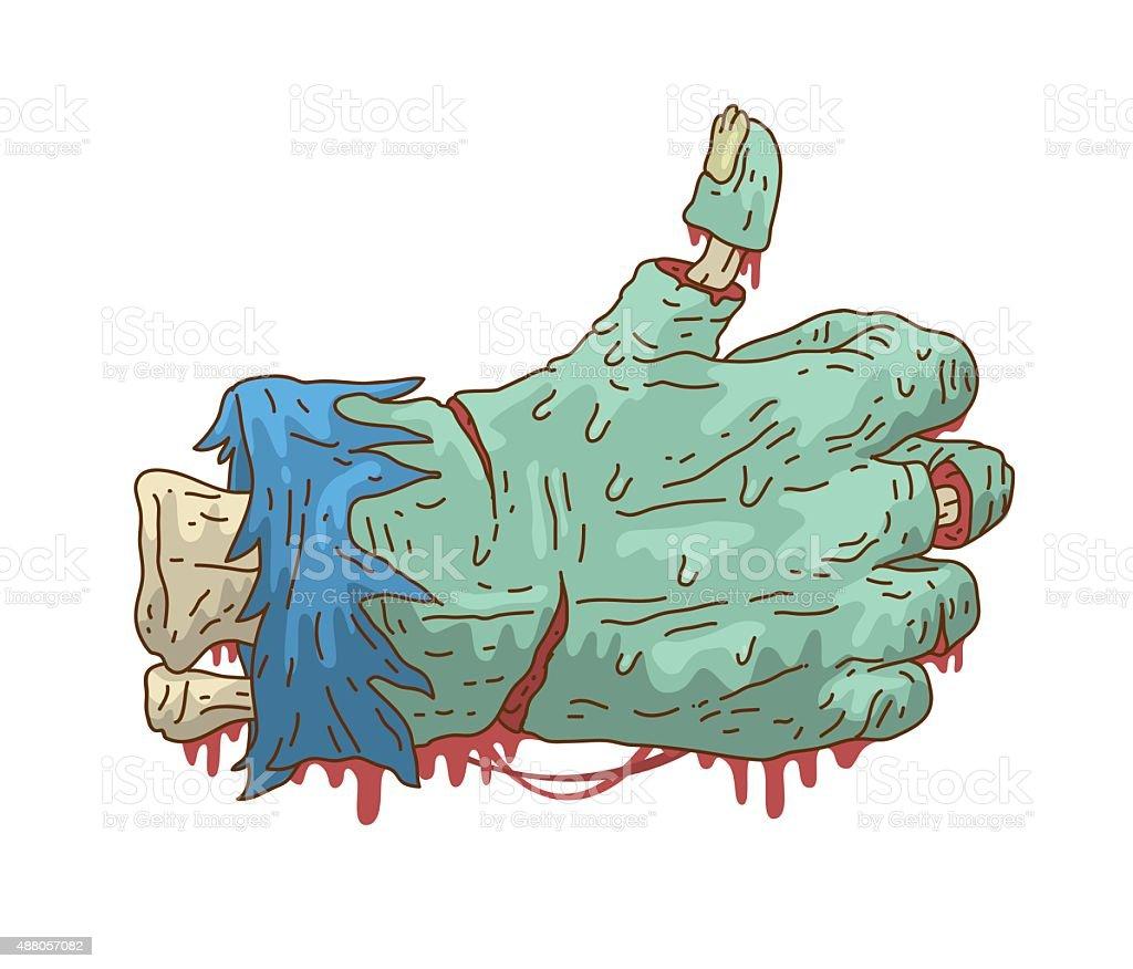 Zombie like vector art illustration