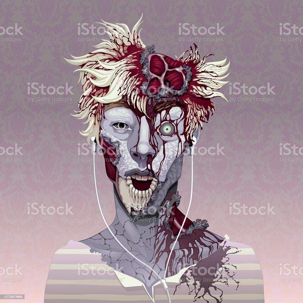 Zombie portrait. royalty-free stock vector art