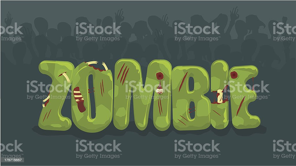 Zombie sign royalty-free stock vector art