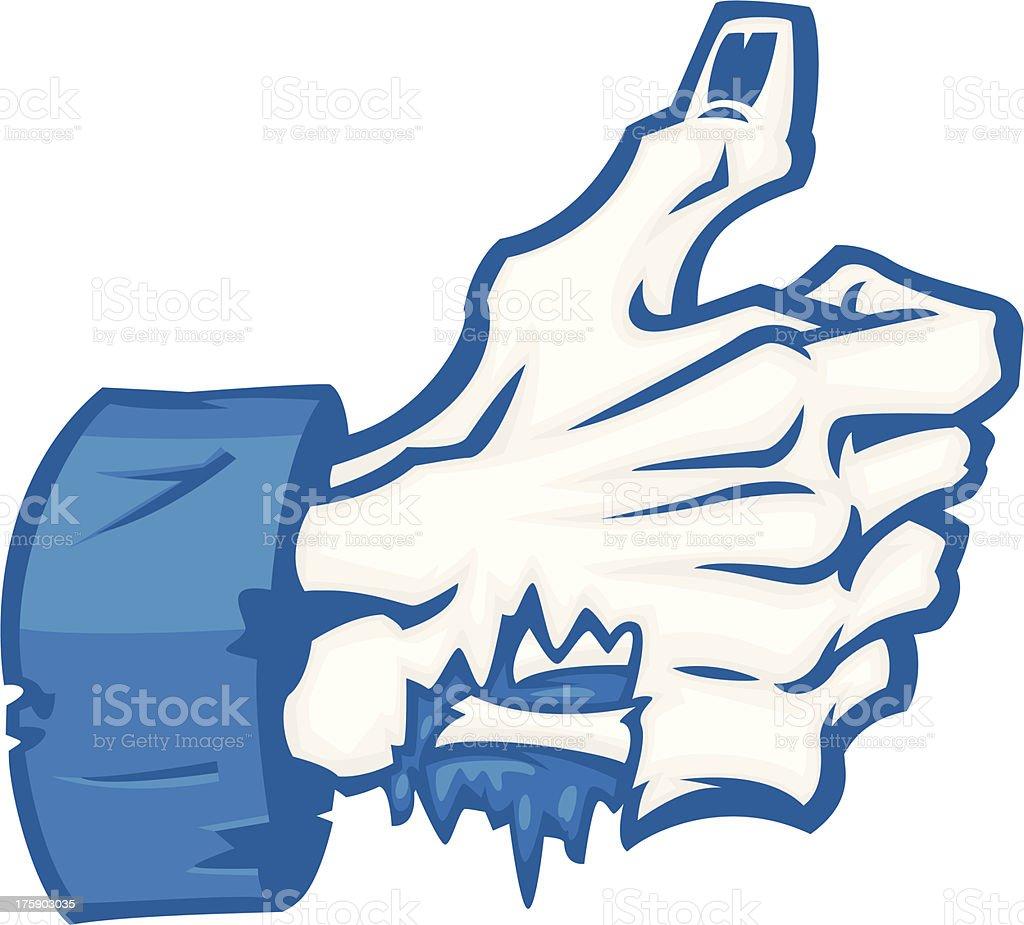 zombie thumbs up vector art illustration