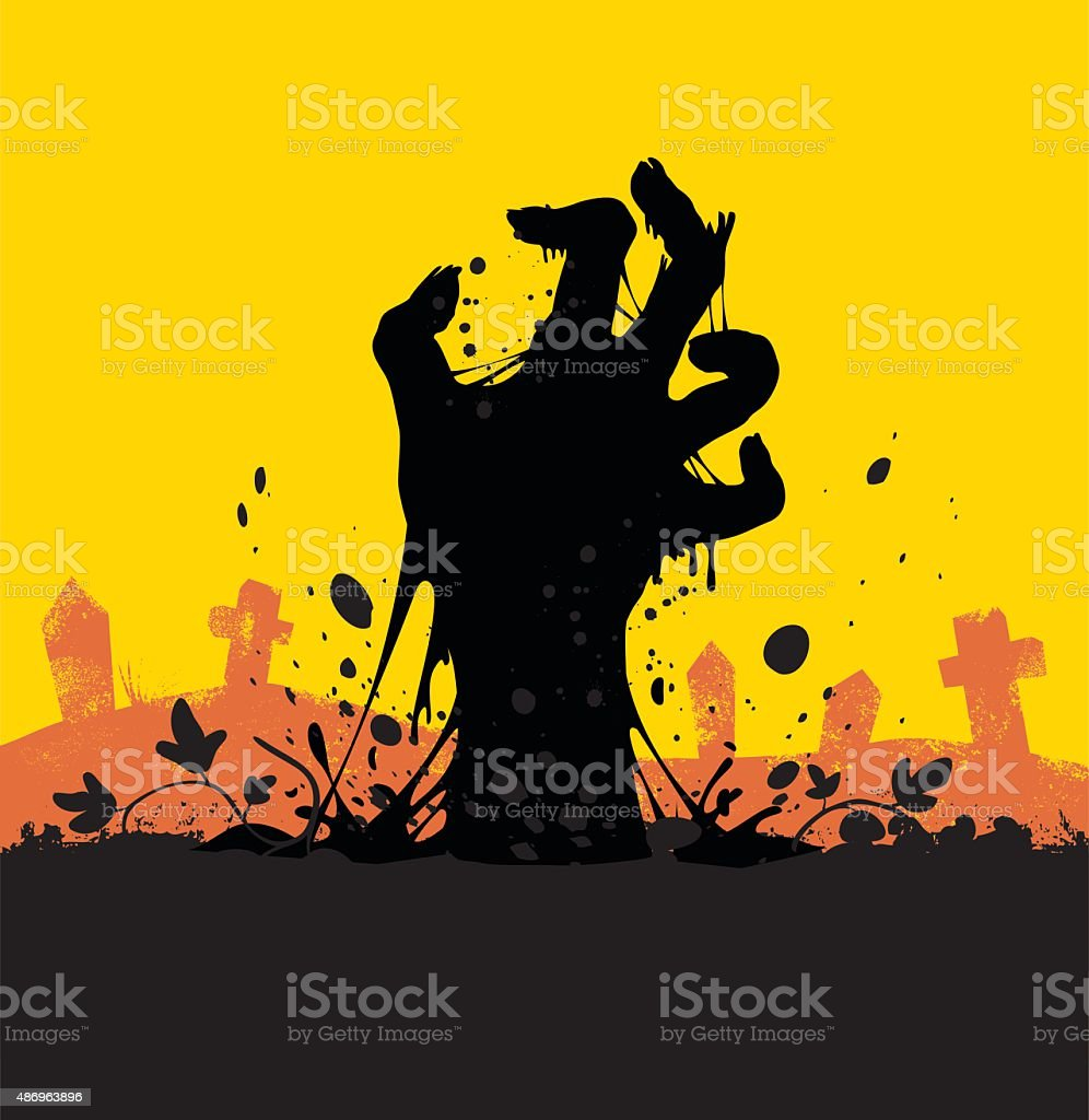 Zombie vector art illustration
