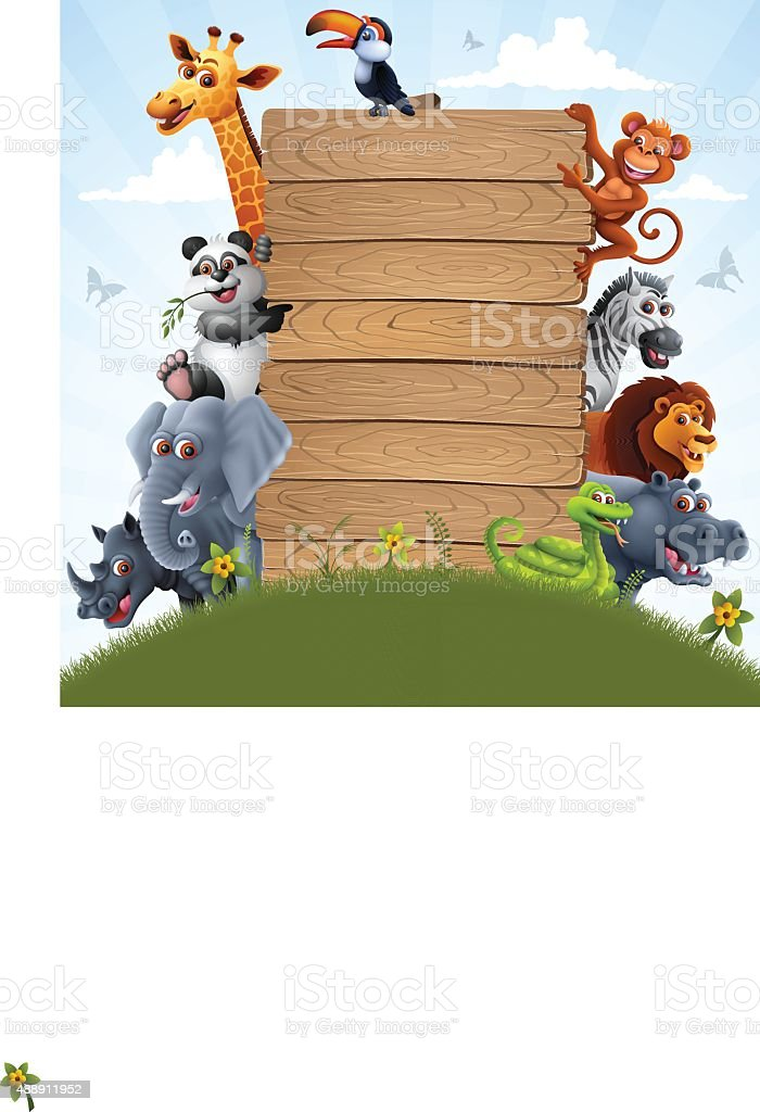 Zoo Animal Characters vector art illustration