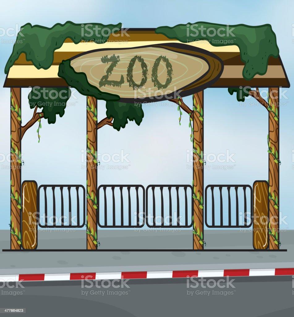 Zoo entrance royalty-free stock vector art