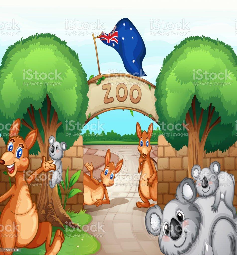 Zoo scene royalty-free stock vector art