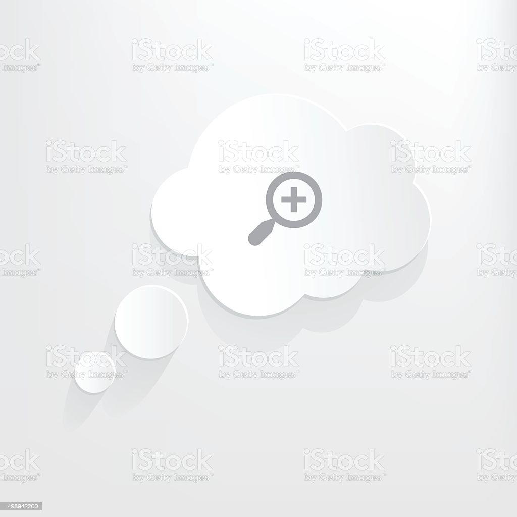 Zoom In vector art illustration