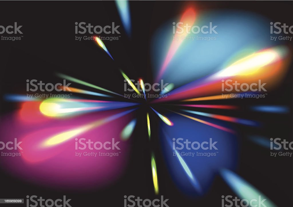 zoom light effect royalty-free stock vector art