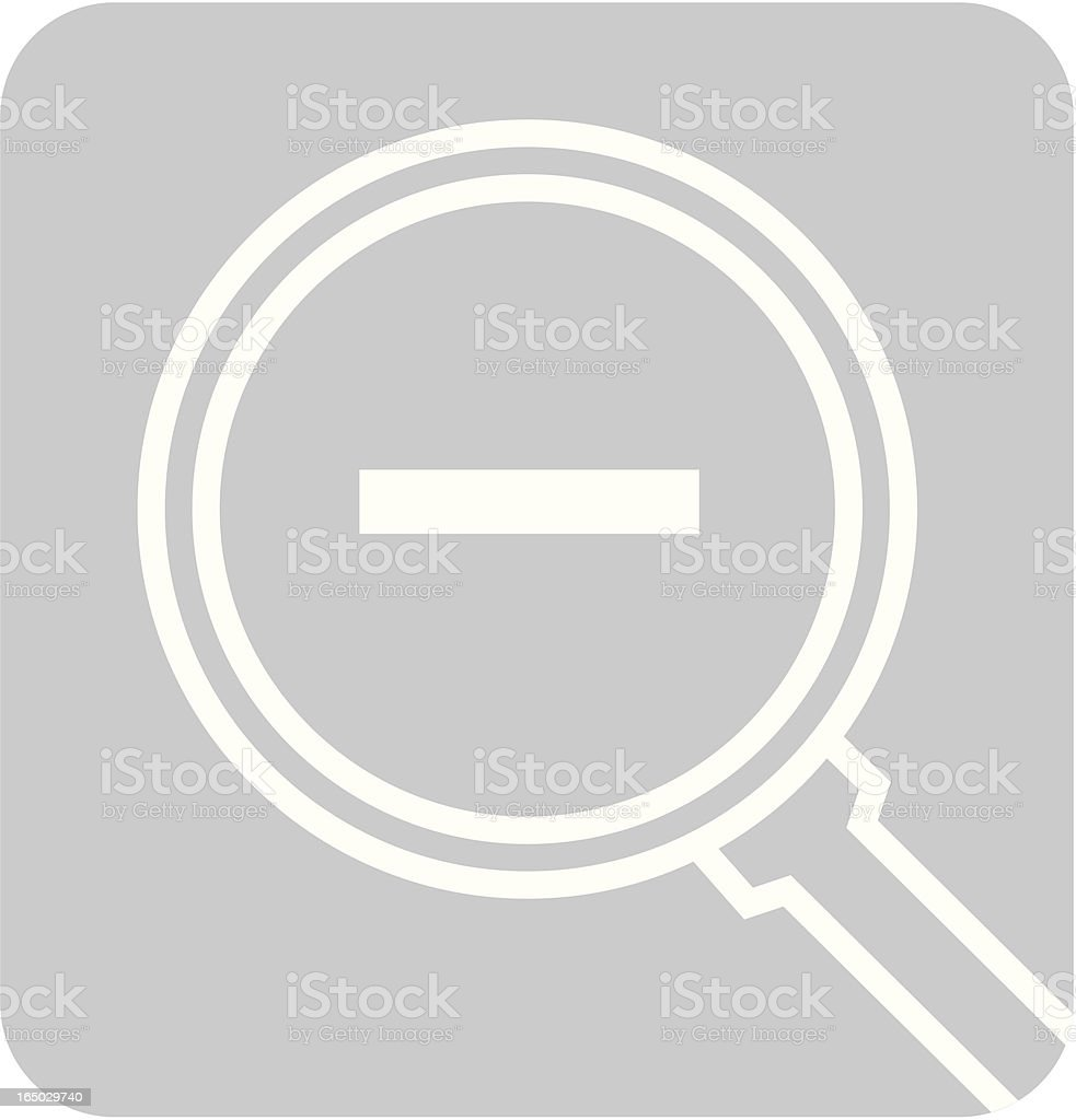 Zoom Out (-) royalty-free stock vector art