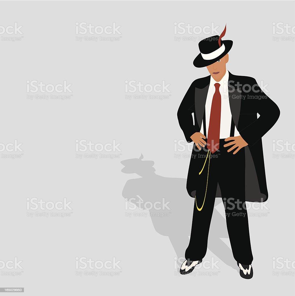 Zoot Suit 2 vector art illustration