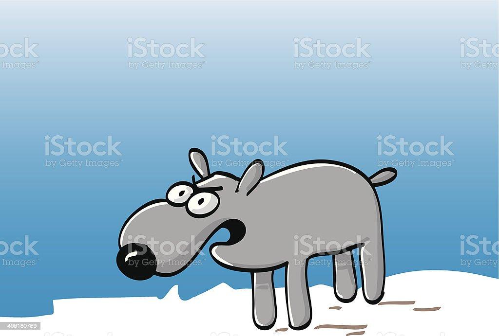 zorniger hund royalty-free stock vector art