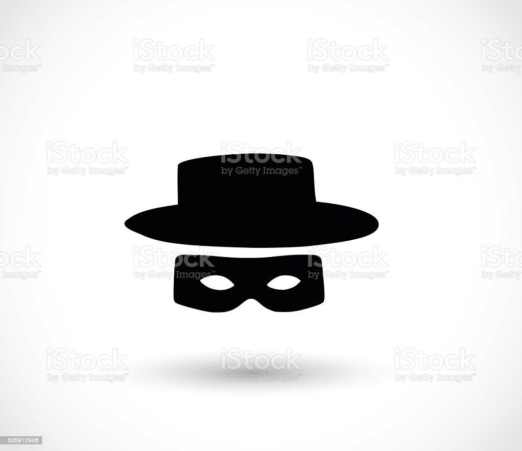 Zorro mask icon vector illustration vector art illustration