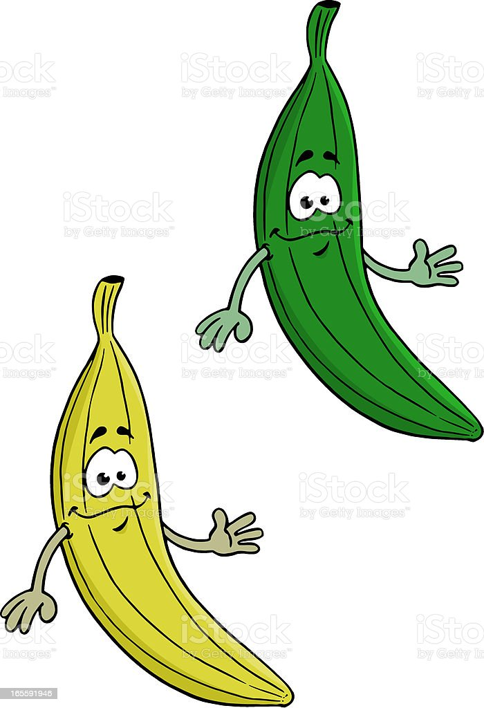 Courgette et Banane royalty-free stock vector art