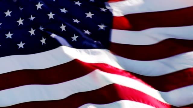 LOOP: US FLAG. HD 1080P video