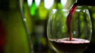 RED WINE POUR WITH BOTTLES-1080HD video