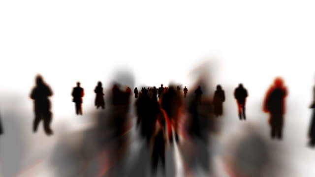 INFINITE CROWD - ENDLESS WHITE SPACE: SERIES_CROWD_T4 (loopable) video