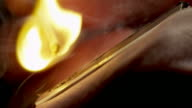 WOODEN MATCH LIT-SLOW MOTION-1080HD video