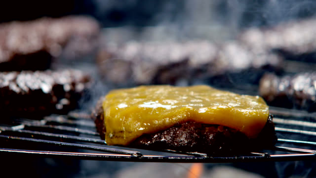 CHEESEBURGER ON THE GRILL video