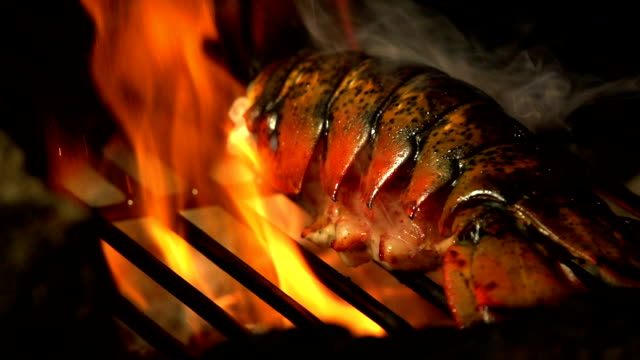 SLOW MOTION BARBECUE LOBSTER 240FPS video