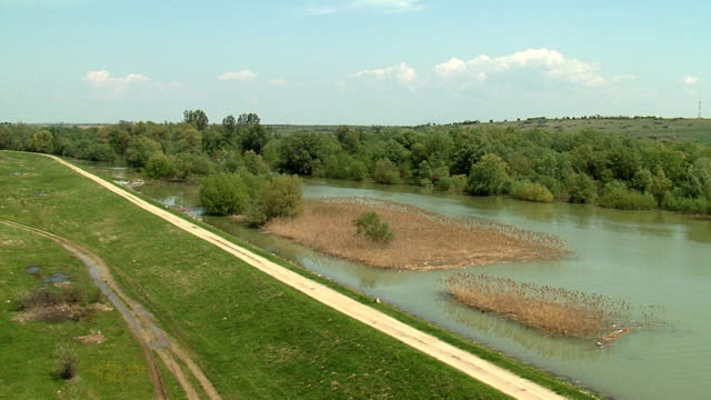 AERIAL VIEW OF EMBANKMENT video