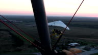 AERIAL VIEW FROM MOTOR HANG-GLIDER video