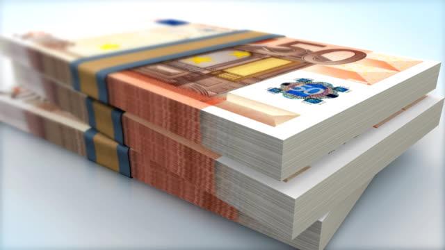 HD (HI-DEF) EURO BANK NOTES FALING video