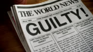 NEWSPAPER-HEADLINE-GUILTY-1080HD video