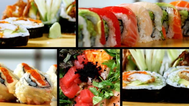 SUSHI MONTAGE-HEALTHY EATING video