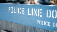 DOLLY: POLICE LINE DO NOT CROSS video
