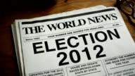 NEWSPAPER HEADLINE-ELECTION 2012 video