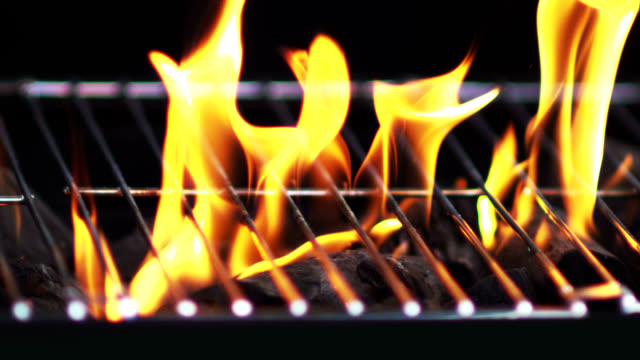 GRILL FLAMES-SLOW MOTION video