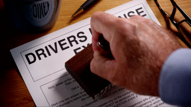 DRIVERS EXAM FORM STAMPED APPROVED AND FAILED video