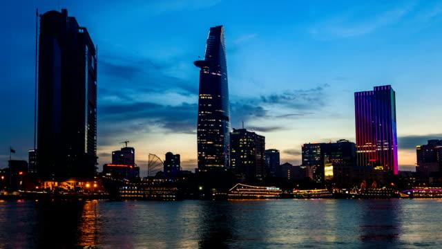 HO CHI MINH CITY SKYLINE NIGHT TIMELAPSE video