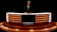 NEWS ANCHORMAN AT CONSOLE video