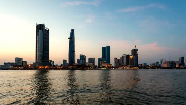 HO CHI MINH CITY SKYLINE SUNSET TIMELAPSE video