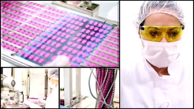 MEDICAL PILLS INDUSTRY - MONTAGE video