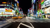 SHINJUKU CROSSING AT NIGHT, JAPAN TIMELAPSE video