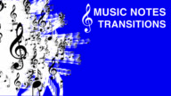 VIDEO TRANSITION SET 'MUSIC NOTES' video