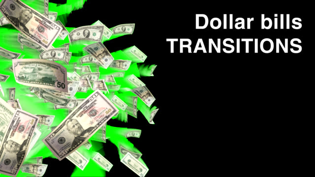 VIDEO TRANSITION SET - DOLLAR BILLS video