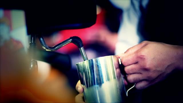 BARISTA MAKING COFFEE video