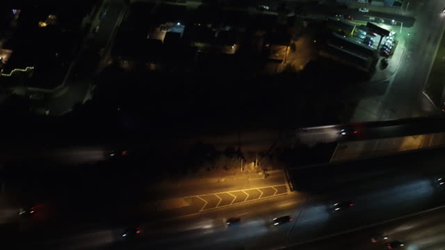 CITY STREETS AERIAL VIEW video