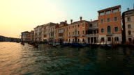 GRAND CANAL IN VENICE AND GONDOLAS video