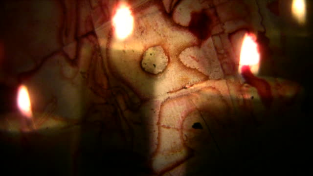 HD 1080i Abstract candles through organic Film 2 video